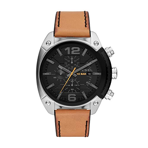 a289873a4bd3 DIESEL Overflow Chronograph Brown Leather Men s Watch DZ4503 from Diesel