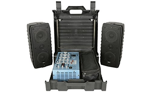 QTX SC100 Suitcase Portable PA System 100W USB/SD +DSP 1x Mic +Speakers & Extras from Digiteck