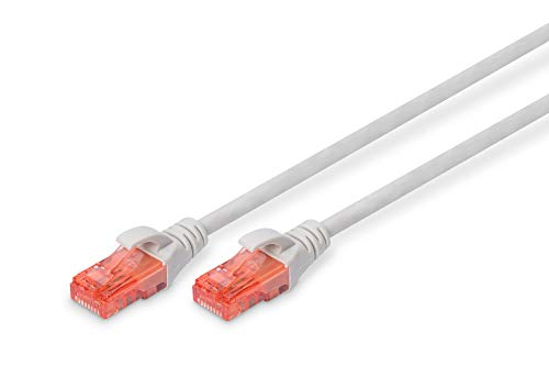 Digitus CAT 6 U-UTP Patch Cable, 1.5m, Network LAN DSL Ethernet Cable, LSZH, Copper, AWG 26/7, Grey from Digitus
