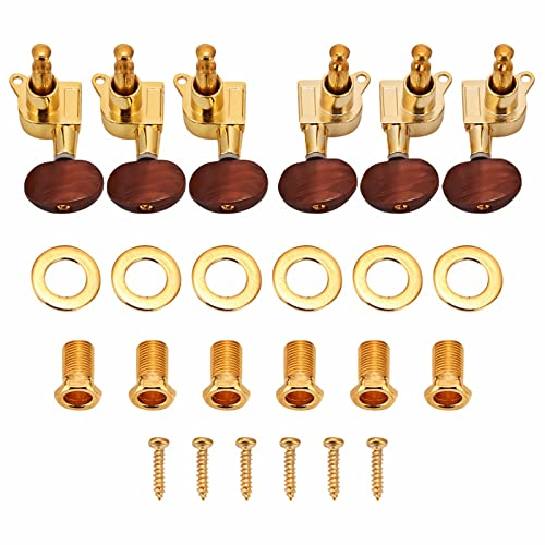 3L3R Tuning Pegs, Locking Tuners Machine Heads for Acoustic Electric Guitar(Gold) from Dilwe