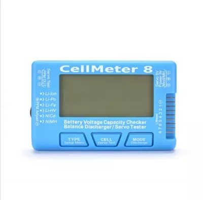 Digital Battery Checker, CellMeter 8 Digital Battery Capacity Voltage Tester for LiPo LiFe Li-ion from Dilwe