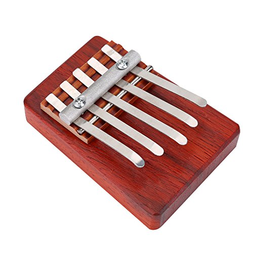 Dilwe Thumb Piano, 5/6 Keys Kalimba Rosewood Finger Thumb Piano Musical Instrument Gift for Children(Red(5 Keys)) from Dilwe