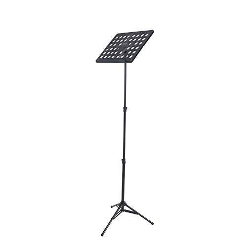 Folding Music Stand with Carrying Bag, Adjustable Travel Music Stand Bracket Aluminum Alloy Tripod Holder(Black) from Dilwe