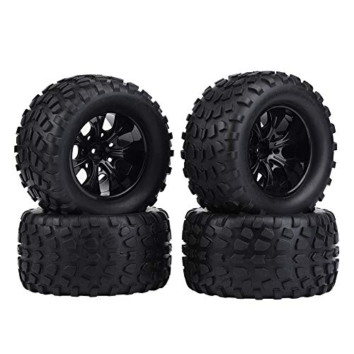 RC Truck Car Tire, 4 Pcs Wheel Tire Rubber Tires for 1:10 hsp redcat Exceed Truck Off-road Car Accessory Parts(7 Holes) from Dilwe