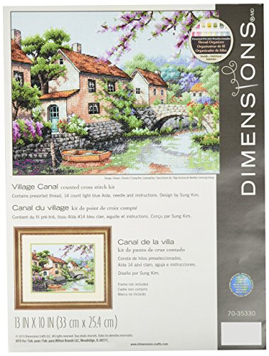 DIMENSIONS 70-35330 Gold: Counted Cross Stitch: Village Canal, Various, One from DIMENSIONS