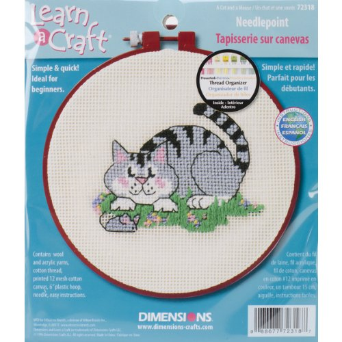 "Dimensions ""A Cat and a Mouse"" Needle Point Kit, Multi-Colour from Dimensions"