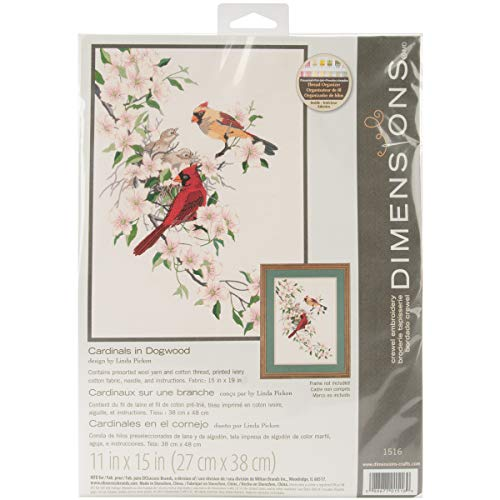 DIMENSIONS Cardinals in Dogwood, Multicolor, 11 inches by 15 inches from DIMENSIONS