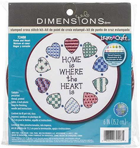 Dimensions D72408 | Home & Heart Beginners Cross Stitch Mini-Kit | 15cm from Dimensions