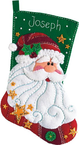 DIMENSIONS Sequined Santa, Multi-Colour from DIMENSIONS