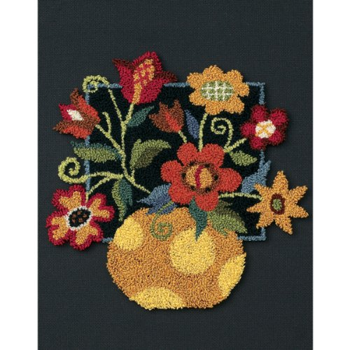 "Dimensions ""Floral on Black"" Punch Needle Kit, Multi-Colour from Dimensions"
