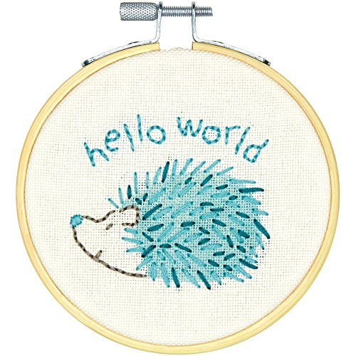 DIMENSIONS Embroidery Kit with Hoop: Crewel: Hello Hedgehog, Various, One from DIMENSIONS