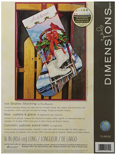 "Dimensions ""Ice Skates"" Stocking Needle Point Kit, Multi-Colour from Dimensions"