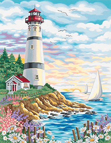 Dimensions Paintworks Paint by Numbers Lighthouse at Sunrise Kit from Dimensions