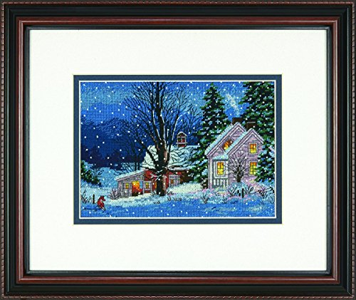 DIMENSIONS Counted X Stitch-Quiet Night, 100% Cotton, Navy, 17.7 x 12.7 x 0.1 cm from DIMENSIONS