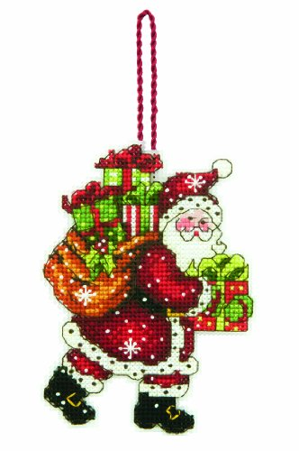 Dimensions 63764 Counted X Stitch-Santa with Bag, White from Dimensions
