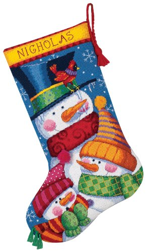 Dimensions Freezin' Season Stocking Needlepoint, Multi-Colour from Dimensions
