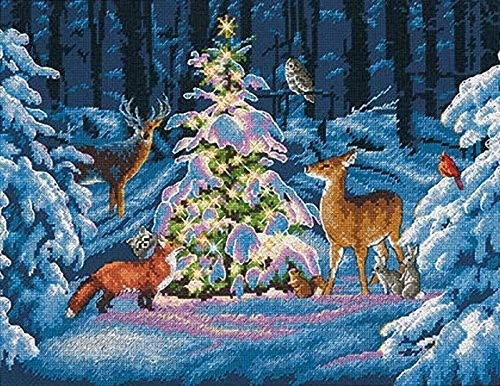 DIMENSIONS Woodland Glow, Blue, 14 x 11 (35 x 27 cm) from DIMENSIONS