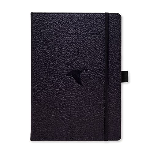 Dingbats* Wildlife Medium A5+ Hardcover Notebook - PU Leather, Micro-Perforated 100gsm Cream Pages, Inner Pocket, Elastic Closure, Pen Holder, Bookmark (Dotted, Black Duck) from Dingbats*