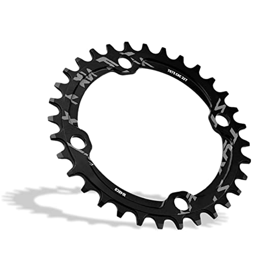 Bike Chainring, 32/34/36/38T BCD 104 Mountain Bike Single Speed Chainring Suitable for Most Bicycle Road Bike Mountain Bike (32T-Black) from Dioche