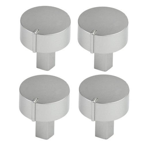 Diplomat ADP Series Oven Cooker Hob Control Switch Knobs (Silver, Pack of 4) from Diplomat