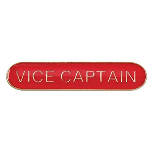 Scholar Bar Badge Vice Captain Red 40mm from Discounted Trophies