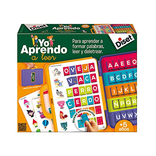 Diset 63752 - Spanish Learn to Read set, Briefcase, Educational (63715) Educational Toy from 4 years from Diset