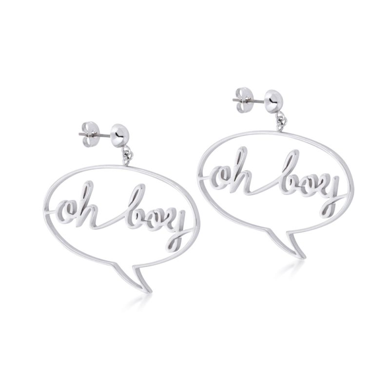 Disney Couture Mickey Mouse Anniversary Mickey Oh Boy Earrings from Disney Couture