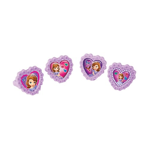 Unique Party 71883 - Disney Sofia the First Plastic Rings Party Bag Fillers, Pack of 4 from Disney Junior