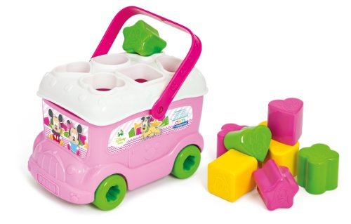 Clementoni 14933 Baby Minnie Shape Sorter Bus, Multicolour from Clementoni