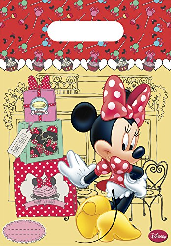 Unique Party 71813 - Café Disney Minnie Mouse Party Bags, Pack of 6 from Disney
