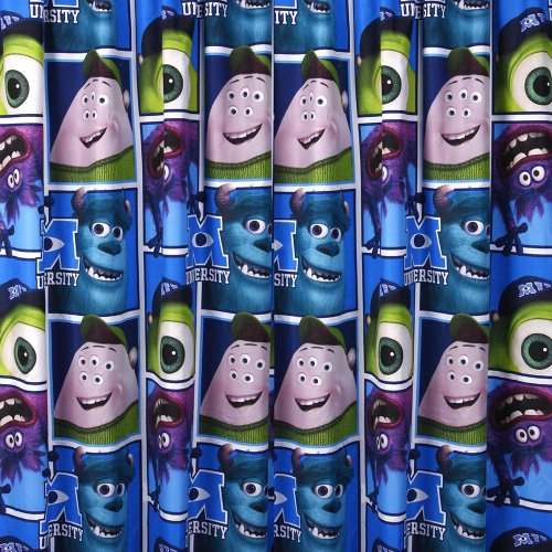 Disney Character World 72-inch Monsters University Curtains, Multi-Color from Disney