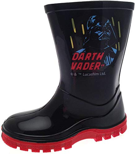 Disney Kids Boys Star Wars Darth Vader Wellington Boots Wellies Boots Size UK 8 from Disney