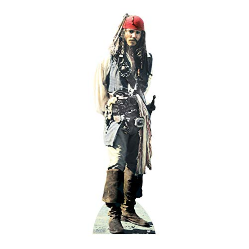 JACK SPARROW LIFESIZE CARDBOARD CUTOUT STANDEE STANDUP Johnny Depp Pirates of the Caribean from Star Cutouts