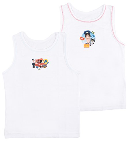 Kids Boys Toddlers 2 Pack Character Underwear Vests Postman Pat 3-4 from Disney