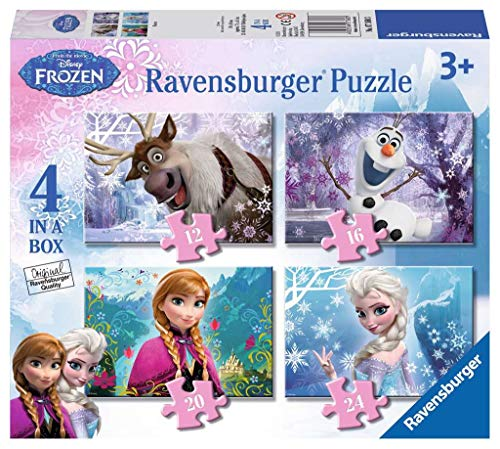 Ravensburger Disney Frozen 4 in Box (12, 16, 20, 24pc) Jigsaw Puzzles from Ravensburger