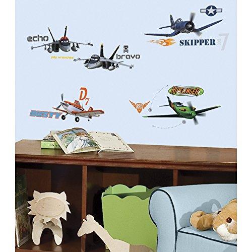 Disney RoomMates Children's Repositonable Wall Stickers Planes, Multi-Color from Disney