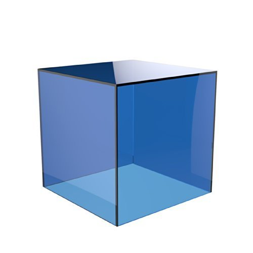 Acrylic Cube Display Stand Square 5 Sided Box Perspex Tray Retail Shop Holder (300mm x 300mm x 300mm, Light Blue) from Displaypro