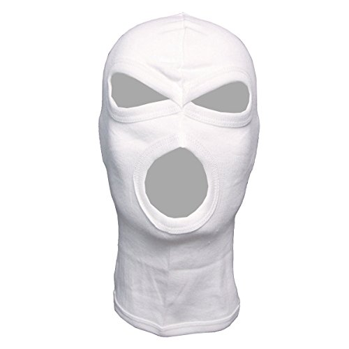 3 HOLE LIGHTWEIGHT BALACLAVA PAINTBALL WHITE from Diverse