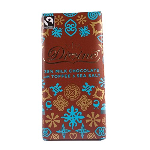 Divine | Milk Choc Toffee & Sea Salt | 8 x 100g from Divine