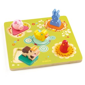 Djeco Duck And Friends Puzzle One Size from Djeco
