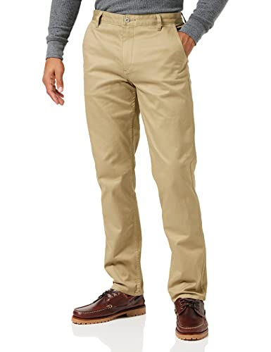 Dockers Men's Alpha Original Slim - Stretch Twill Trouser, Brown (New British Khaki 0432),  W36/L36 from dockers