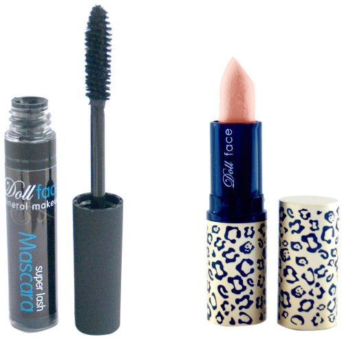 Doll face Mineral Makeup Christmas Lipstick Gift Set Apricot Dream with A Super Lash Mascara from Doll Face Mineral Makeup