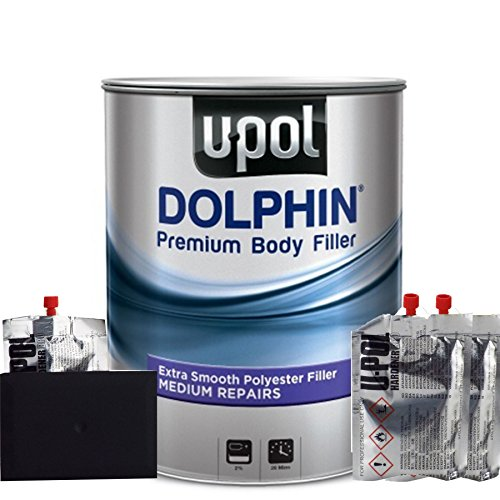 Dolphin U-Pol Ultra Fine Premium Body Filler For Medium Depth Repairs 3 Litre Tin Excellent Adhesion/Superb Filling & Build Quality/Easy To Sand & Shape from Dolphin