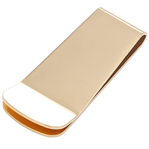 DonDon Men's Money Clip Stainless Steel Gold from DonDon