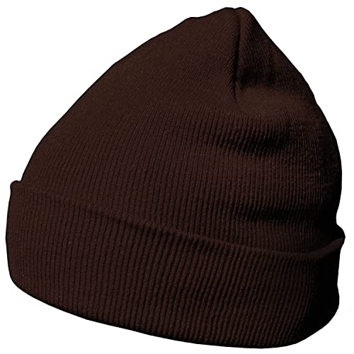 DonDon Winter hat Beanie Warm Classical Design Modern and Soft Brown from DonDon