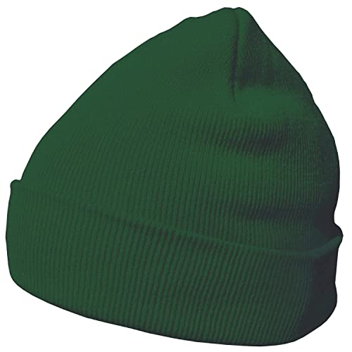 DonDon Winter hat Beanie Warm Classical Design Modern and Soft Hunter Green from DonDon