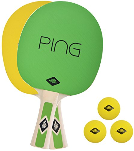 Donic-Schildkröt in Carry Bag, 788486 Ping Pong 2 Player Table Tennis Set – Green/Yellow, M from Donic-Schildkroet