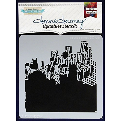 Donna Downey Stencils Plastic Signature 8.5-inch x 8.5-inch, Count Downey from Donna Downey Stencils