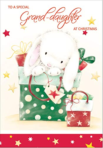 Doodlecards Granddaughter Cute Christmas Card - Medium Size from Doodlecards