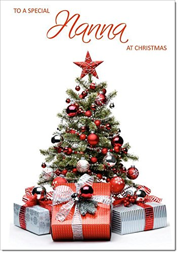 Doodlecards Nanna Christmas Card Parcels and Christmas Tree - Medium Size from Doodlecards